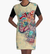 Vintage Elephant TShirt Graphic T-Shirt Dress