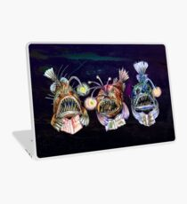 Angler Fish Reading Books 2 Laptop Skin