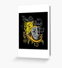 Zodiac - Gemini -  Black & Gold Greeting Card