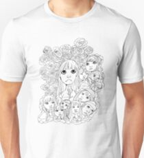 Beautiful Fantasy- Black Line-Art Unisex T-Shirt