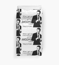 himym Barney Stinson Suit Up Awesome Duvet Cover