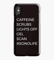 Caffeine Scrubs Gel Scan  #SONOLIFE Sonographer Ultrasound Technologist  iPhone Case/Skin