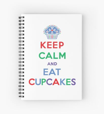 Keep Calm and Eat Cupcakes- primary Spiral Notebook