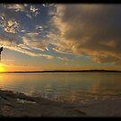 Lake Ninan Sunset by Grant Scollay
