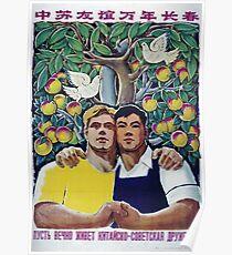 Chinesisch-sowjetische Zusammenarbeit Poster