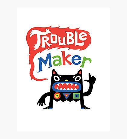 Trouble Maker V - black monster Photographic Print