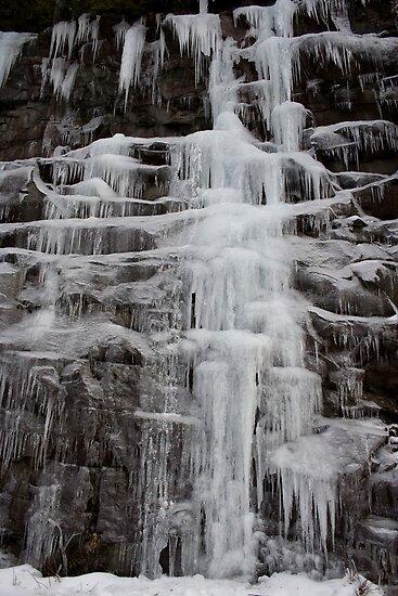 Winter Runoff Series:  Frozen Cliffs II by Dan Cahill
