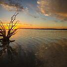 Lake Ninan Sunset 2 by Grant Scollay