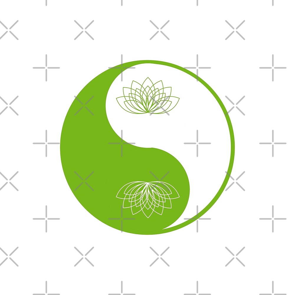 Yin Yang Lotus Flower By Makanahele Redbubble