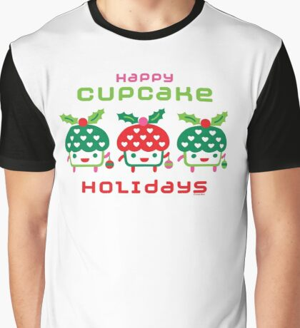 Cupcake Holidays Graphic T-Shirt