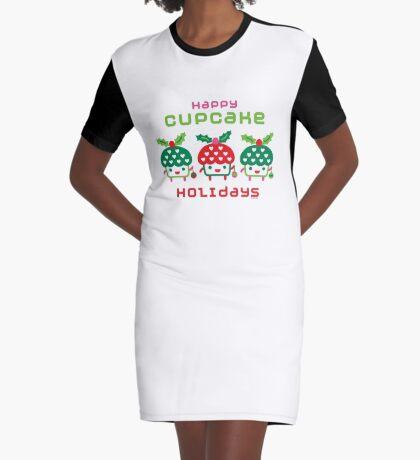 Cupcake Holidays Graphic T-Shirt Dress