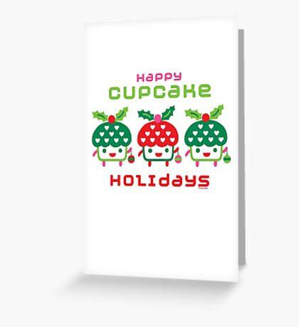 Cupcake Holidays Greeting Card
