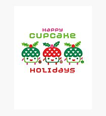 Cupcake Holidays Photographic Print
