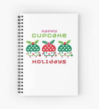 Cupcake Holidays Spiral Notebook