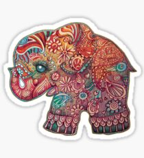 Vintage Elephant Sticker