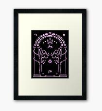Speak Friend and Enter - Pink Framed Print