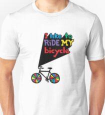 I like to ride my bicycle  Unisex T-Shirt