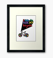 I like to ride my bicycle  Framed Print