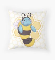 ManaBee Happy! Throw Pillow