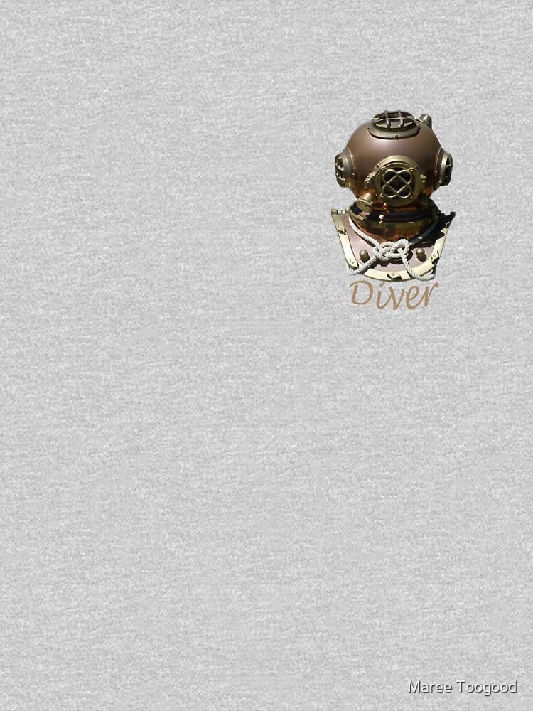 Diver Hard Hat-T-shirt by klipz