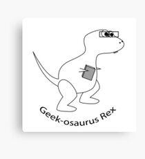 Geek-osaurus Rex Canvas Print