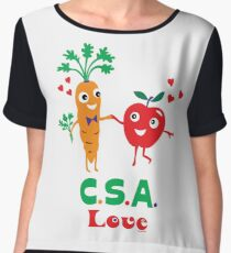 CSA Love - light (Community Supported Agriculture) Chiffon Top