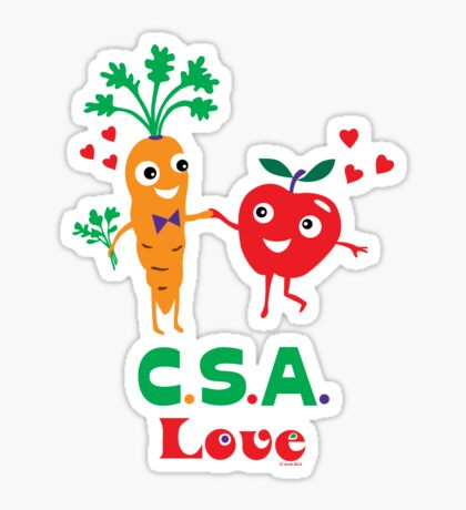 CSA Love - light (Community Supported Agriculture) Sticker