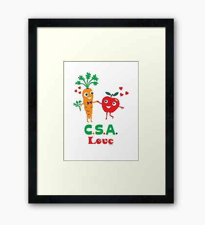 CSA Love - light (Community Supported Agriculture) Framed Print