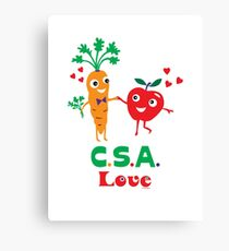 CSA Love - light (Community Supported Agriculture) Canvas Print