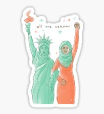 all are welcome Sticker