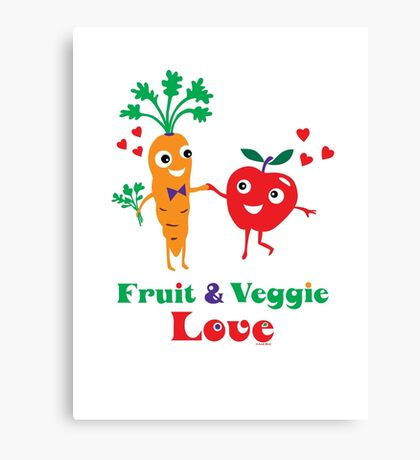 Fruit and Veggie Love Canvas Print