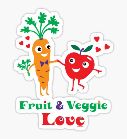 Fruit and Veggie Love Sticker