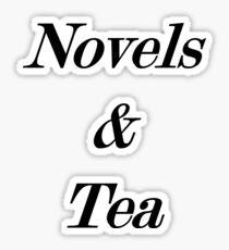 novels and tea Sticker