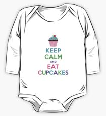 Keep Calm and Eat Cupcakes ll One Piece - Long Sleeve