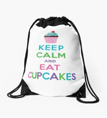 Keep Calm and Eat Cupcakes ll Drawstring Bag