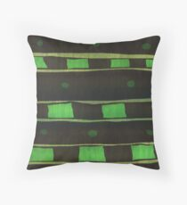 Green Rectangle Throw Pillow