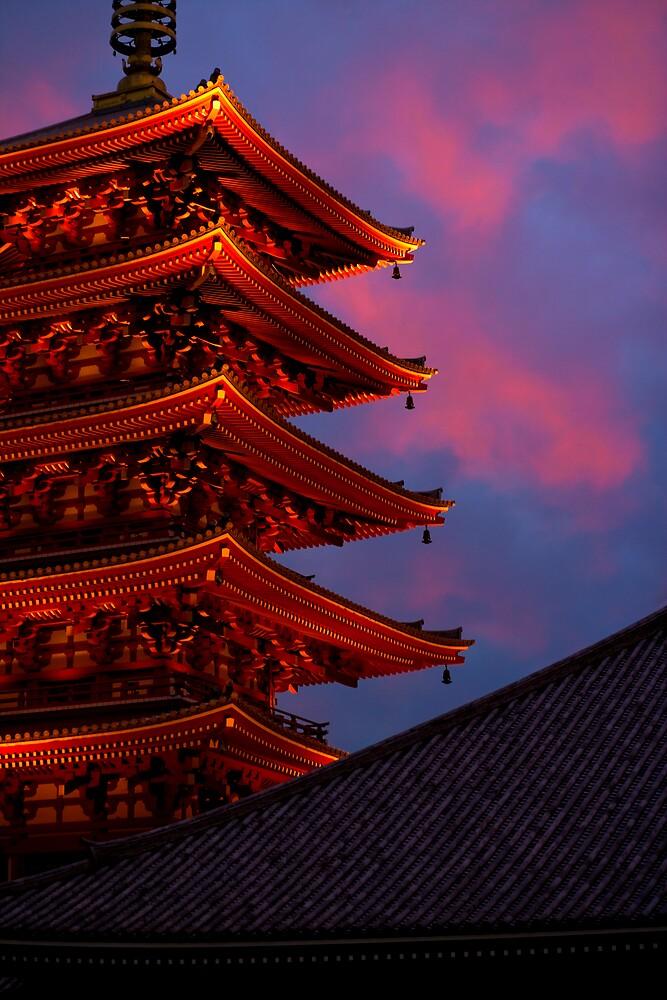 Asakusa Kanon temple, Tokyo by Yves Rubin