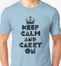 Keep Calm Carry On - black Unisex T-Shirt