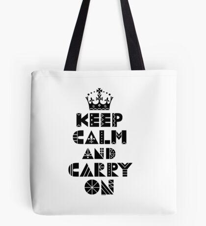 Keep Calm Carry On - black Tote Bag