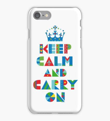 Keep Calm Carry On - on lights iPhone Case/Skin