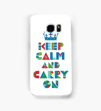 Keep Calm Carry On - on lights Samsung Galaxy Case/Skin