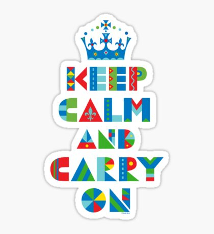 Keep Calm Carry On - on lights Sticker