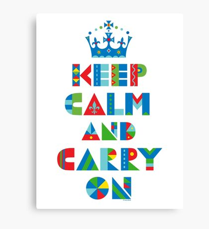 Keep Calm Carry On - on lights Canvas Print