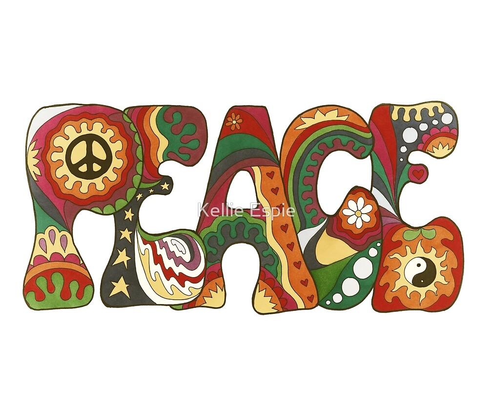 Vintage Psychedelic Peace by Kellie Espie
