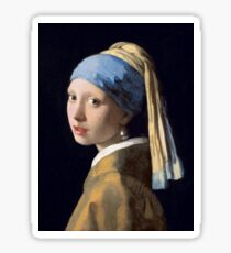 The Girl With The Pearl Earring - Classic Painting Sticker