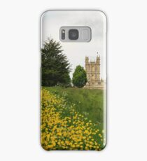 Wildflower meadows lead to Downton abbey Samsung Galaxy Case/Skin