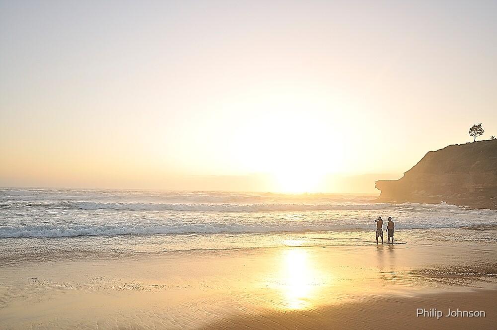 New Years Dawn - Warriewood Beach, Sydney Australia by Philip Johnson