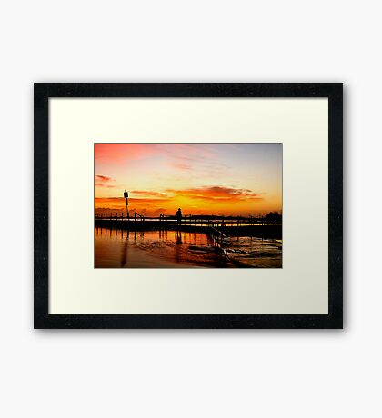 The Bather - Mona Vale Beach, Sydney, NSW Framed Print