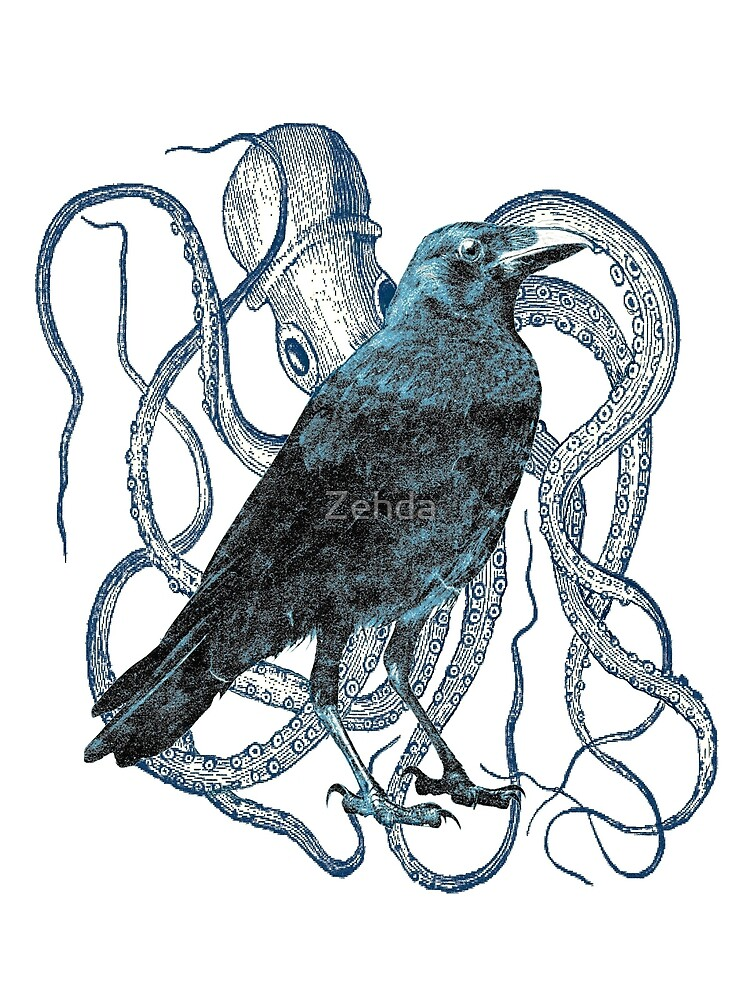 Raven and Octopus by Zehda