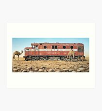 Remnants of the Old Ghan Line Art Print